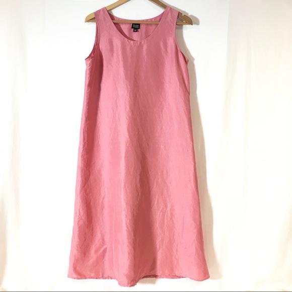 Eileen Fisher Dresses & Skirts - Eileen Fisher 100% Silk Pink Sleeveless Tank Dress